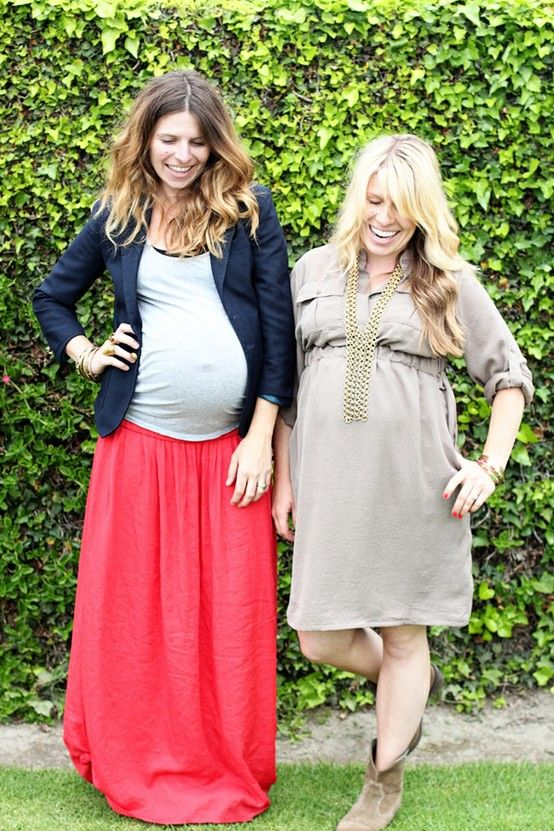 Zwangerschapskleding Lange Rok.Maternity Street Style Blazer And Maxi Skirt Maternity Style