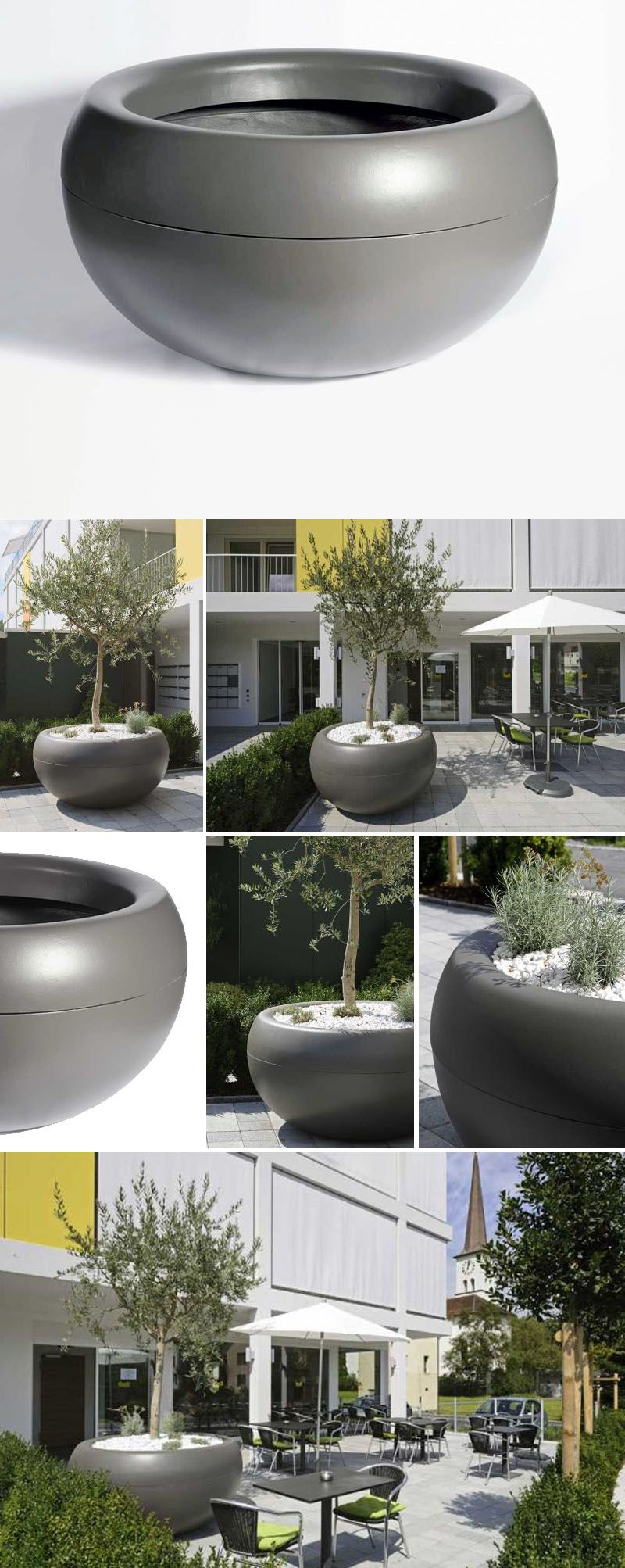 Aladin Extra Large Commericial Planter Outdoor Pots For 640 x 480