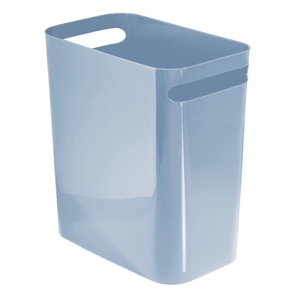 12 Inch Light Blue Bathroom Office Kitchen Wastebasket Trash Can Free  Shipping