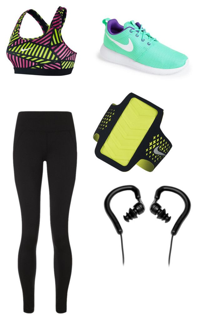 """Workout time"" by meganireland-1 ❤ liked on Polyvore featuring Sweaty Betty, NIKE and Pyle"