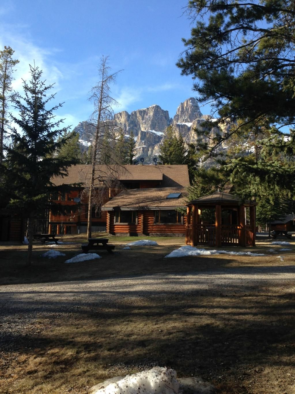 Castle Mountain Chalets Banff Alberta  Halfway between