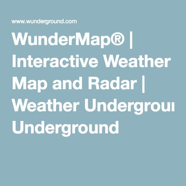 WunderMap Interactive Weather Map And Radar Weather - Weather underground map