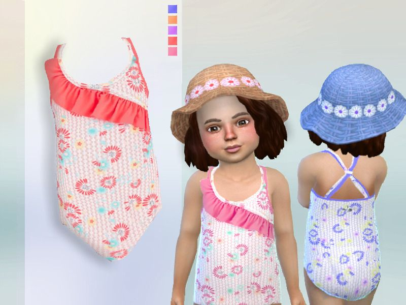 Lana CC Finds - Swimsuit for toddlers | My Sims 4 stuff
