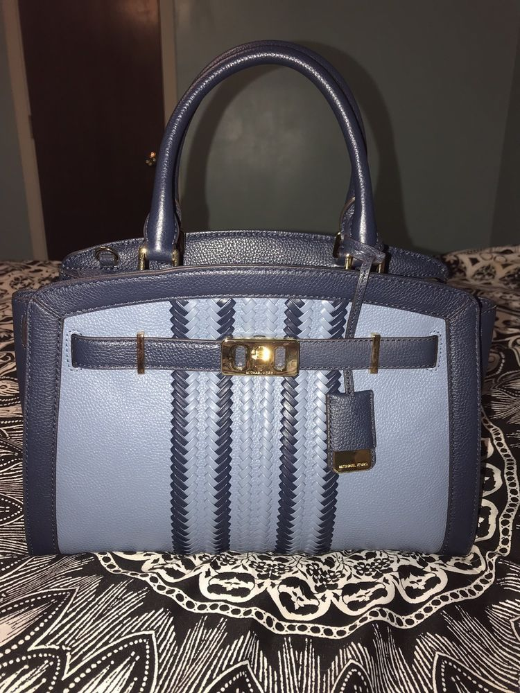 65ac8a86419d NWOT MICHAEL KORS PEBBLED LEATHER KARSON LARGE SATCHEL BAG IN DENIM/NAVY  #fashion #clothing #shoes #accessories #womensbagshandbags (ebay link)