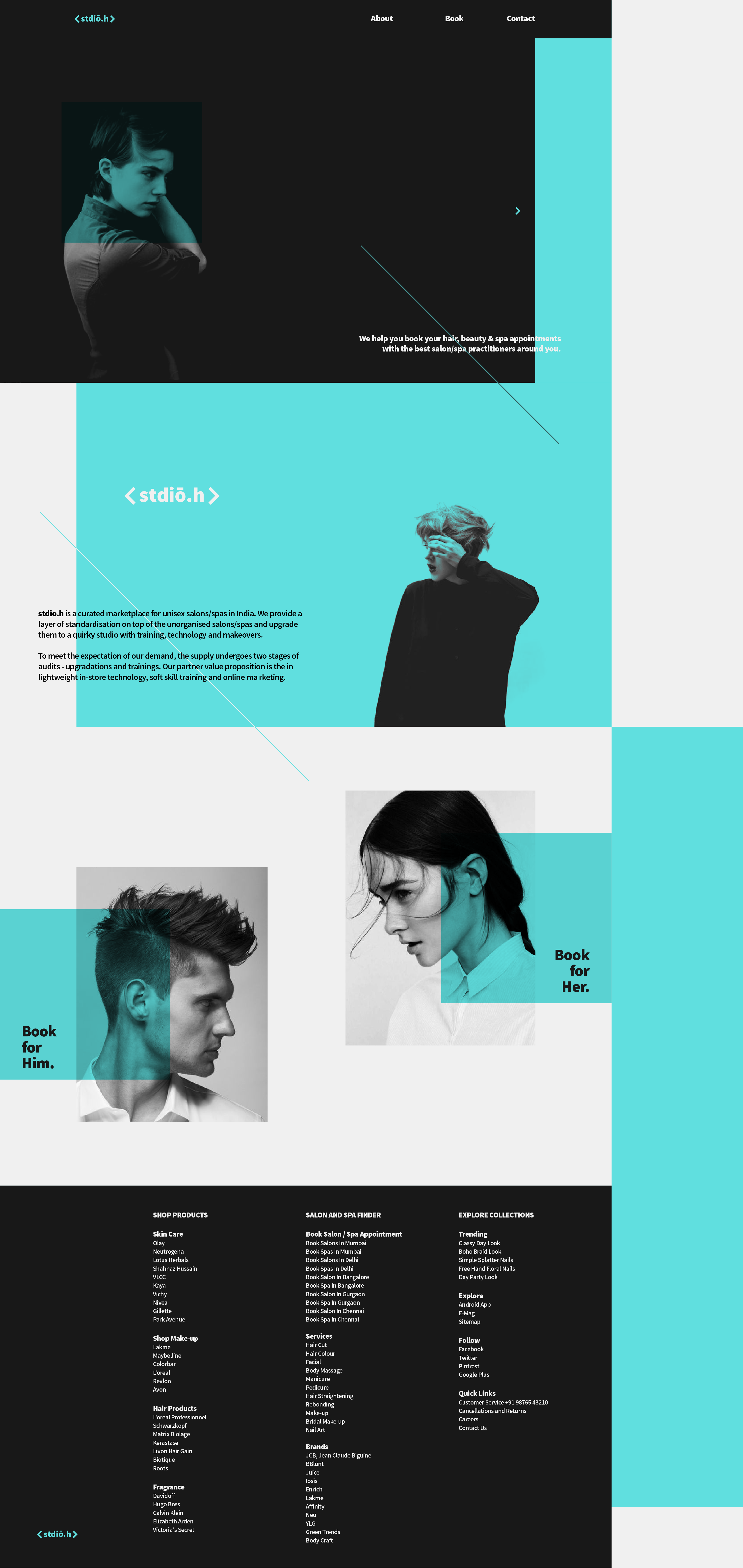 Stdio H On Behance Visual Communication Design Reference Spa Services