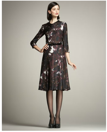 Carolina Herrera Waterfall-Print Dress