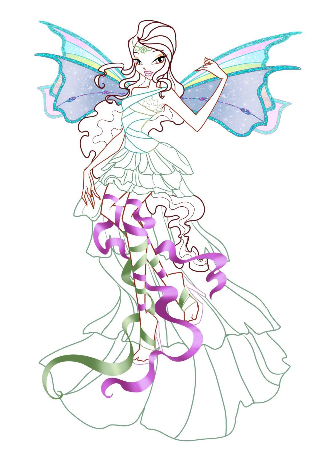 Winx Club Aisha/Layla | Раскраски