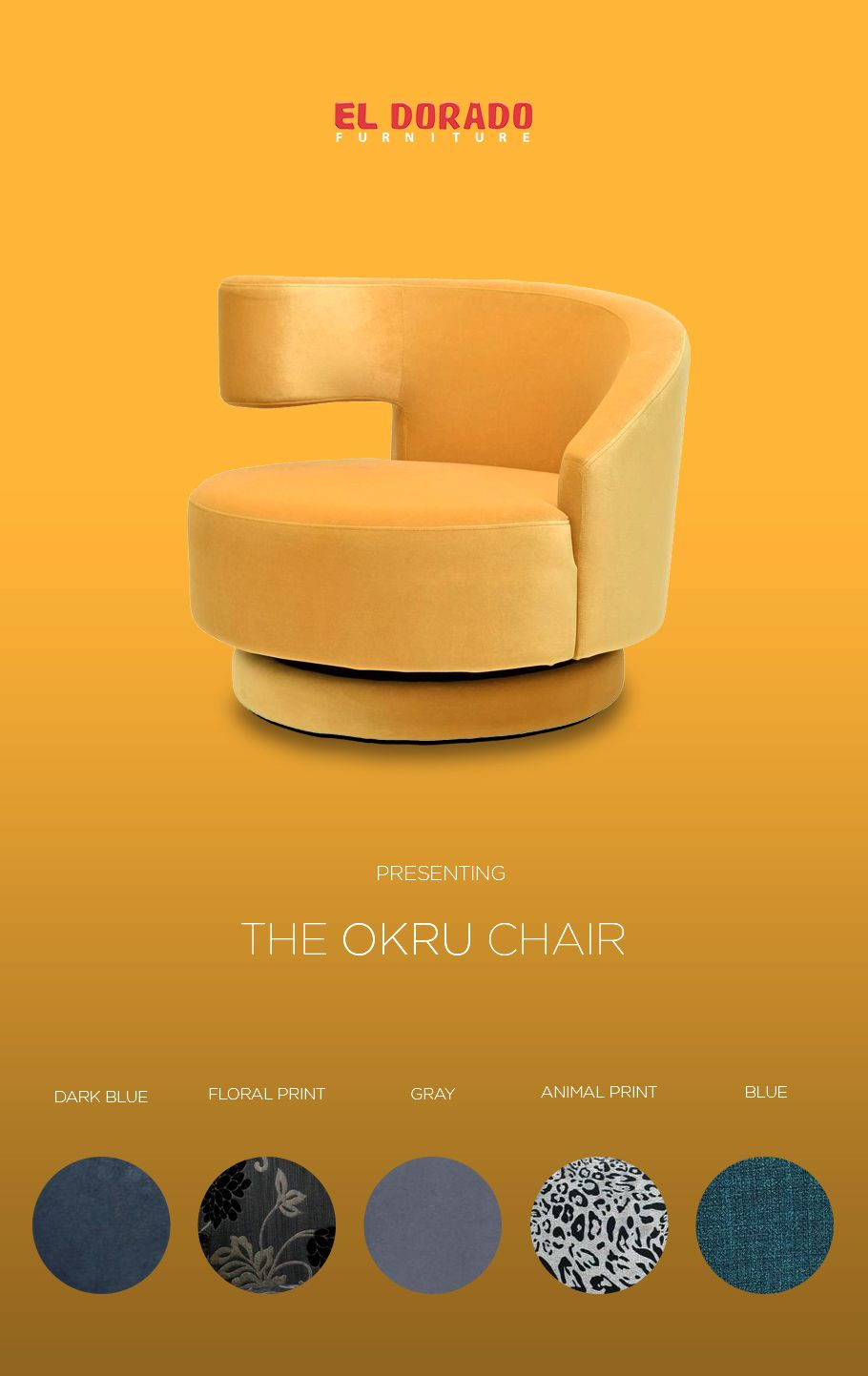 Okru Yellow Swivel Chair Swivel Chair Chair Outdoor Tables And Chairs