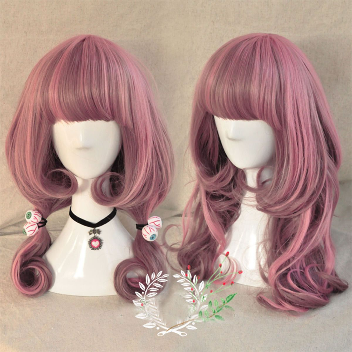 Hair style wavy synthetic full wig color selection