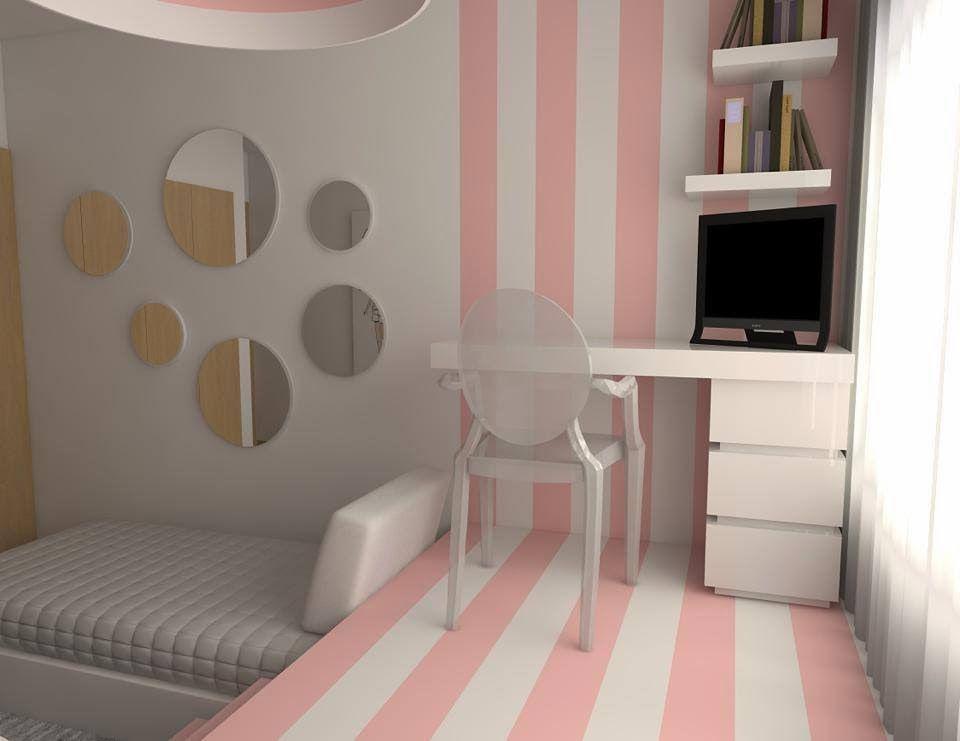 Quarto para duas meninas muito original decora o for Deco quarto