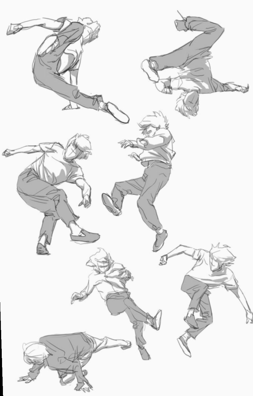 12 Anime Poses Reference Jumping Drawing Poses Male