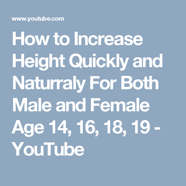 How to Increase Height Quickly and Naturraly For Both Male and