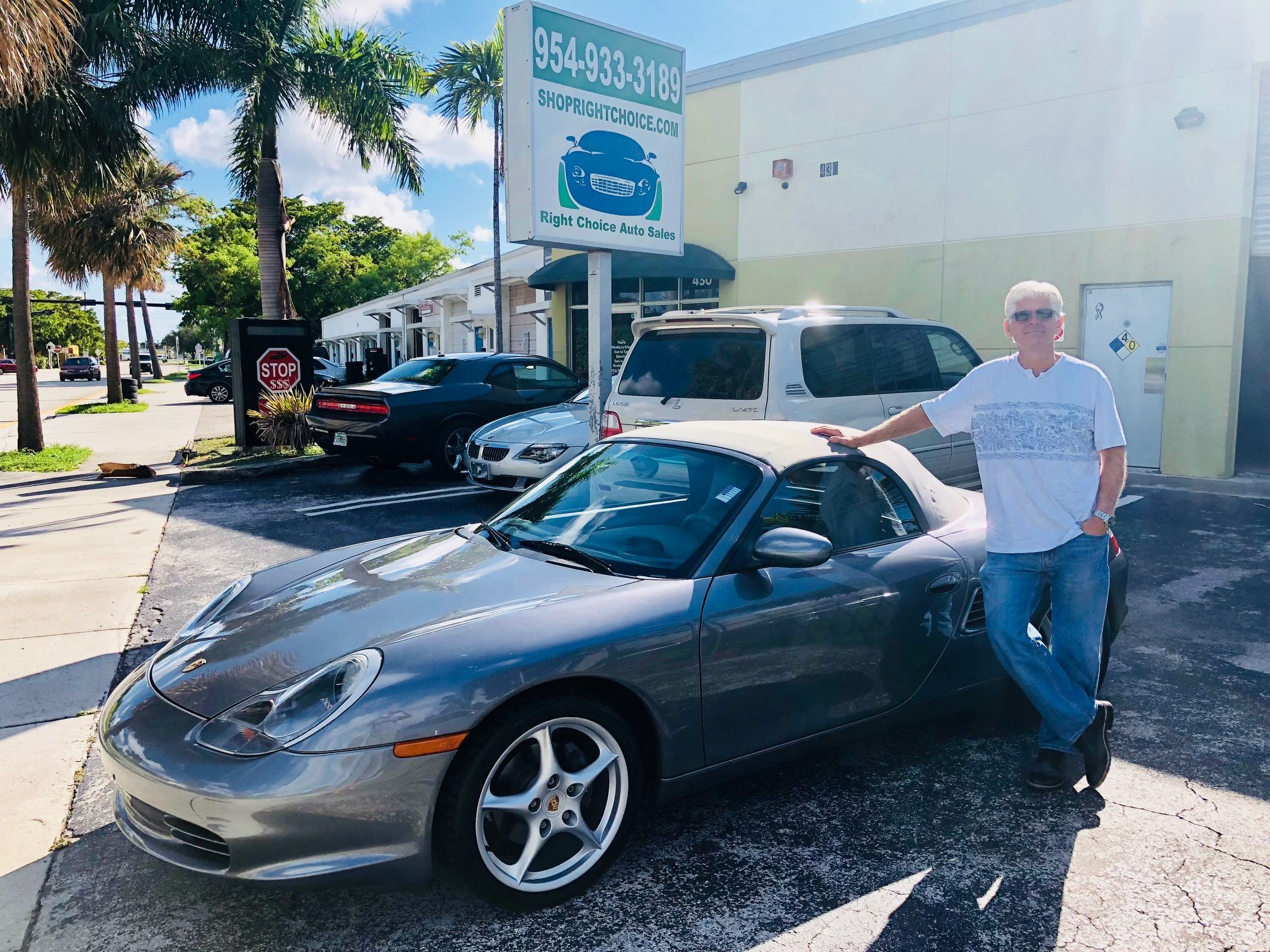 Another Happy Customer Who Bought The Right Car At The Right Price Tom Took Home This Like New 2003 Porsche Boxster Cars For Sale Pompano Beach Porsche Club