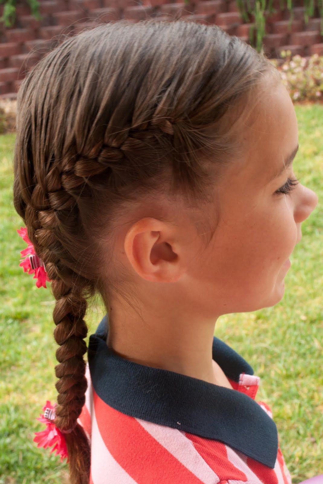 Hair Kids 5 Braid Cornrow Fishtail Ponytail Black Hairstyles