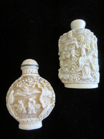 Asian Snuff Bottles Carving Figures