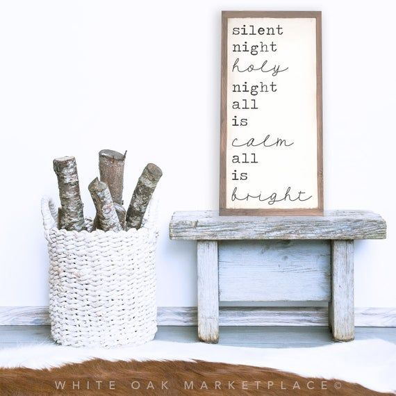 Silent night holy night silent night sign christmas on the farm christmas signs christmas Silent night holy night silent night sign christmas on the farm christmas signs...