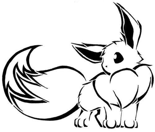 Pokemon Outlines Eevee