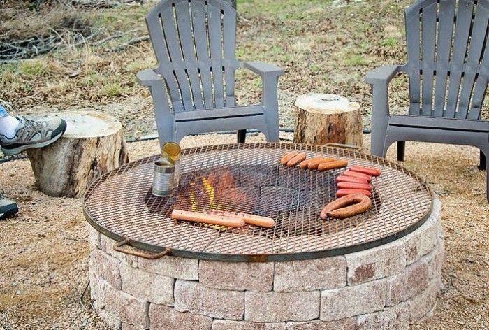 Comment Construire Un Brasero Barbecue En 4 Etapes Faciles Avec Images Foyer Exterieur Brasero Barbecue Brasero De Jardin