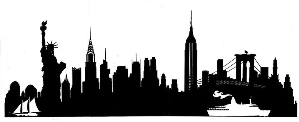 Ny Silhouette Buscar Con Google City Skyline Skyline Silhouette Manhattan Skyline