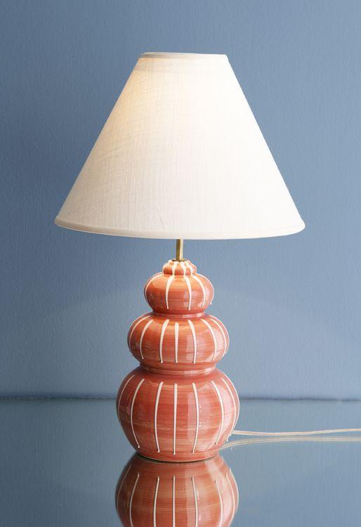 Italian ceramic table lamp 1950s theapartment dk