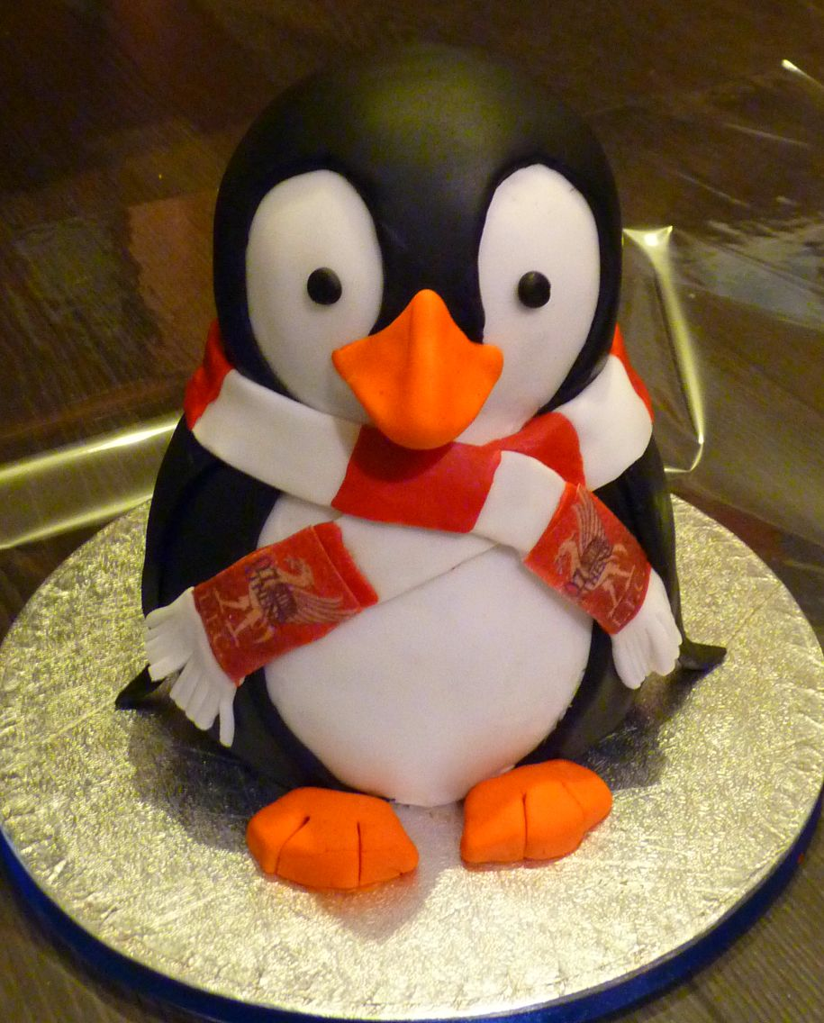 Strange Penguin Cake Christmas Cake Decorations Penguin Cakes Penguin Funny Birthday Cards Online Alyptdamsfinfo