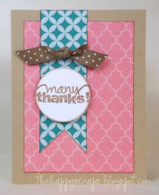 Marvelous Making Handmade Cards Ideas Part - 12: Easy Handmade Thank You Card #thankyou #thehappyscraps