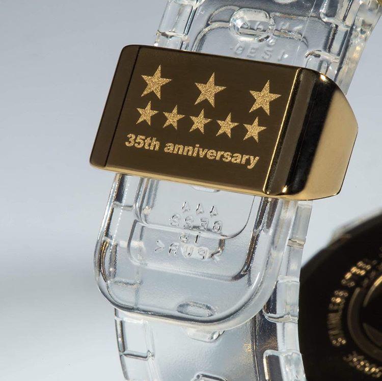 """61e58d8bb7f1 Casio G-Shock trouxe nova coleção """"Glacier Gold"""" em comemoração aos 35 anos  da marca – O Cara Fashion"""