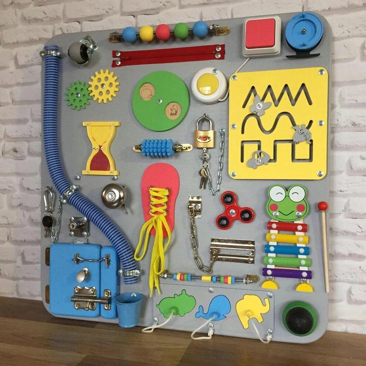 Tablica Manipulacyjna Tablica Sensoryczna 8891357649 Allegro Pl Toddler Activity Board Baby Activity Board Baby Play Activities