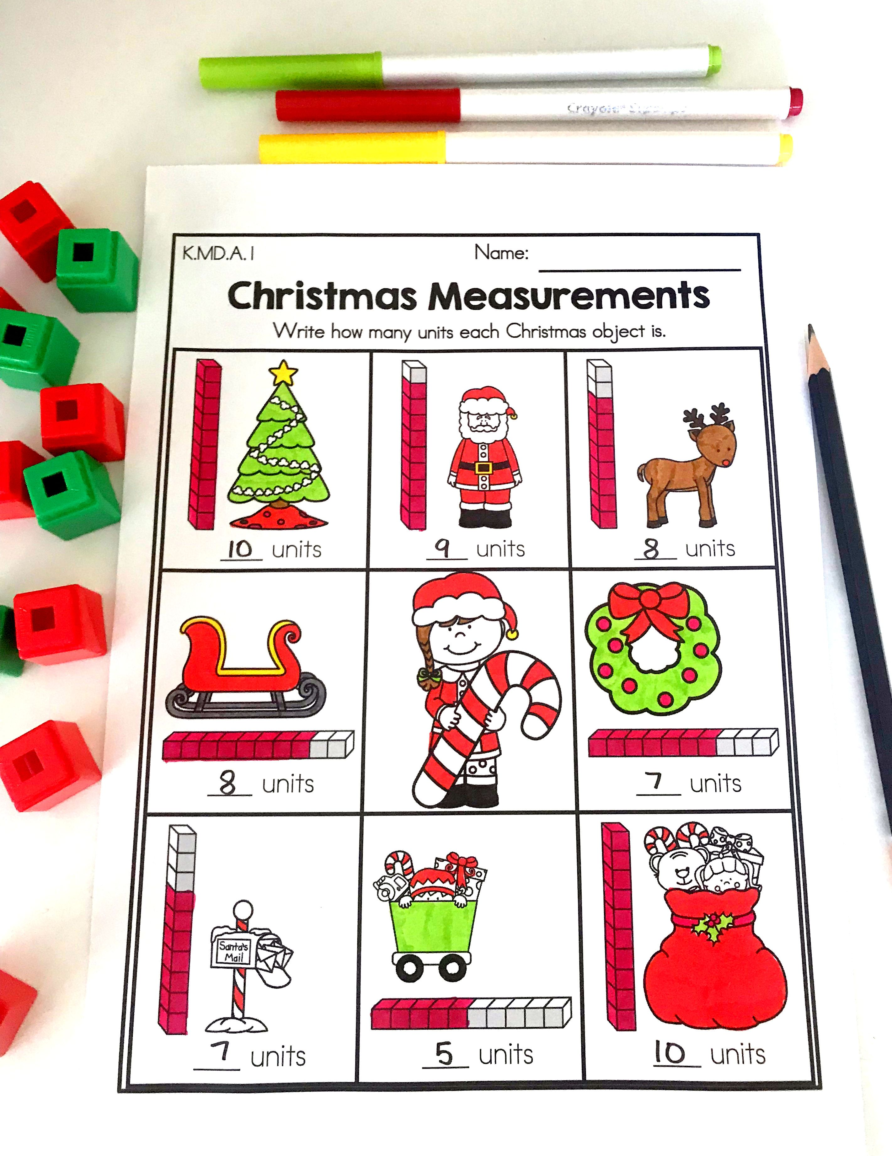 Practice Non Standard Measurement With This Christmas