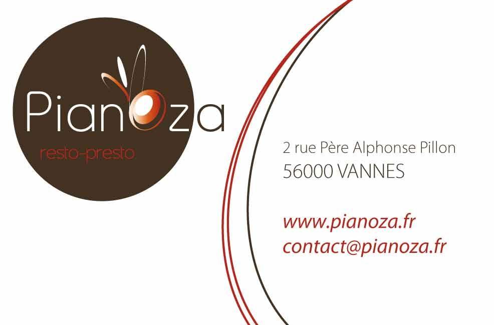 Recto Carte De Visite Pour La Pizzeria Pianoza