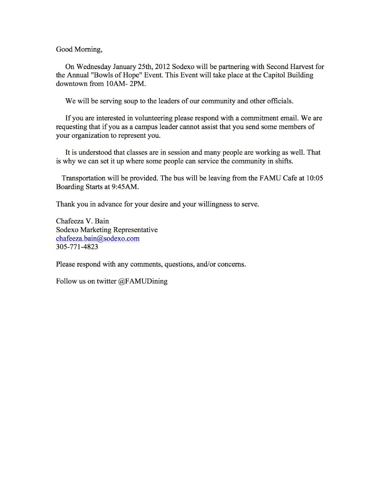 Request For Volunteers Letter Sample