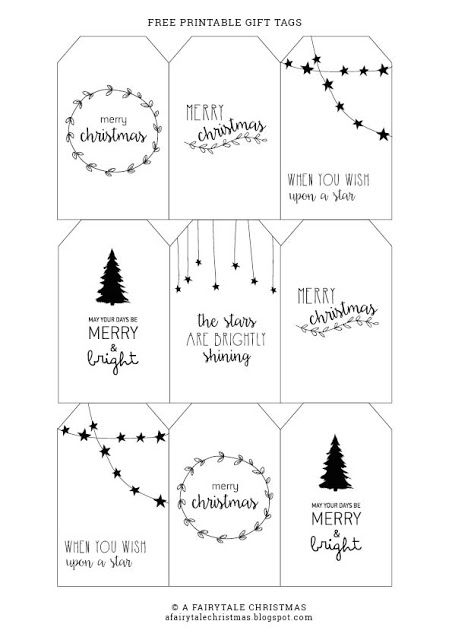A Fairytale Christmas Free Printable Gift Tags Christmas Gift Tags Diy Gift Tags Diy Christmas Gift Tags Free