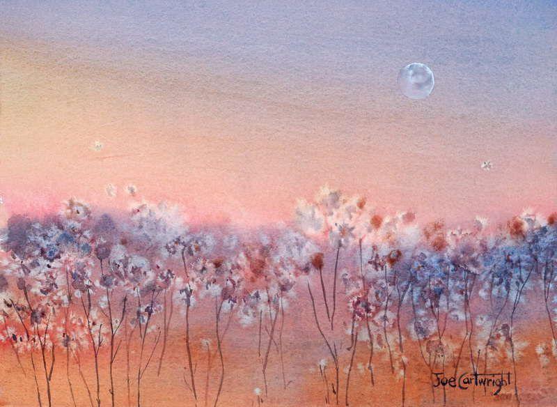 Easy Watercolor Painting Using Salt Simple Watercolor Paintings