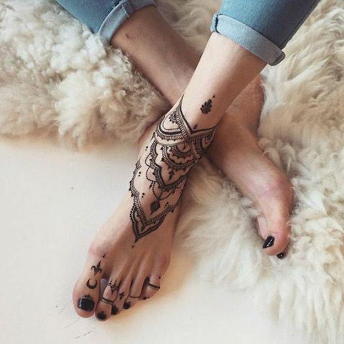 Mandalas Tatuajes Mujer Pie