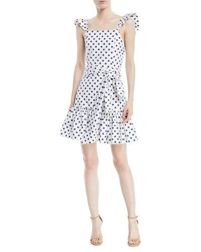 1ea4b6045da31 Alice + Olivia Farah Sleeveless Polka-Dot Mini Dress