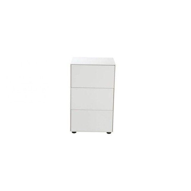 Rangement de bureau blanc mat 45x40 3 tiroirs MARK Bureaus