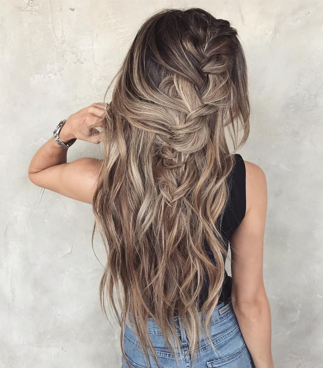 Messy Braided Hairstyle With Long Hair Women Long Hairstyles For Summer Braids For Long Hair Messy Braided Hairstyles Long Wavy Hair