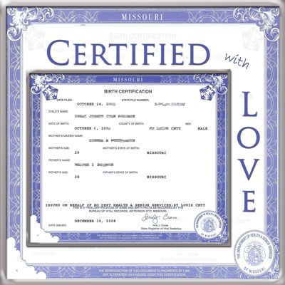Tips on creating a birth certificate scrapbook page scrapbooking - copy birth certificate long beach