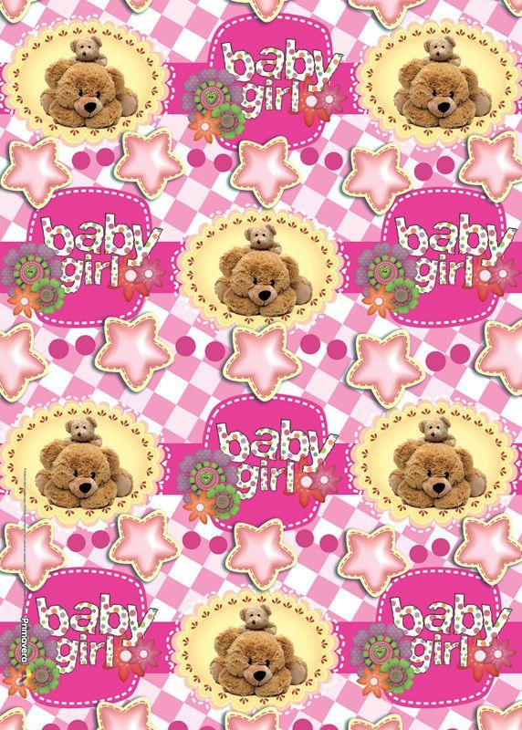 Papel de regalo ositos baby girl