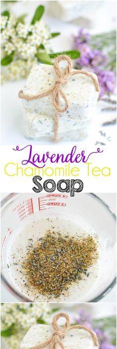 diy lavender chamomile tea soap diy skin care pinterest savons et remede. Black Bedroom Furniture Sets. Home Design Ideas