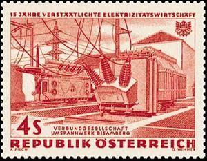 15 Jahre Verstaatlichte Elektrizitätswirtschaft/Verbundgesellschaft, Umspannwerk Bisamberg