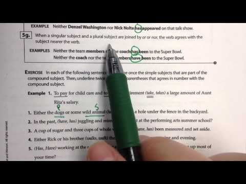 Agreement With Compound Subjects Subject Verb Agreement Subject