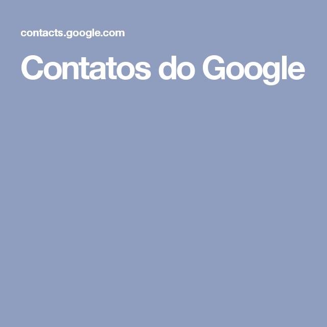 Contatos do Google