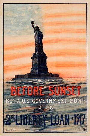 Liberty Loan Wwi Usa 1917 Original Vintage World War One Poster