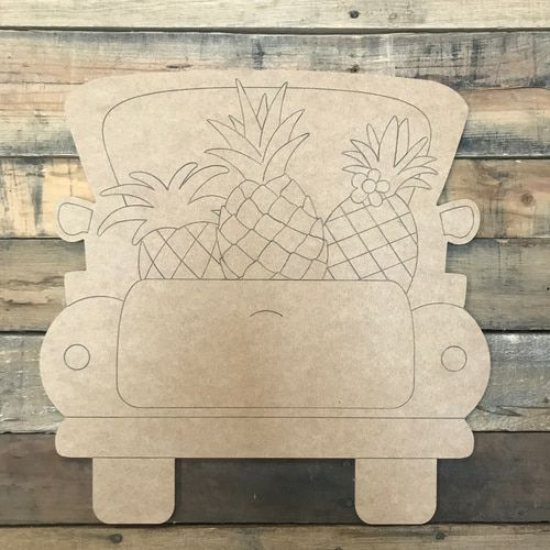 Popsicle Truck Diy Unfinished Wood Cutout Paint By Line