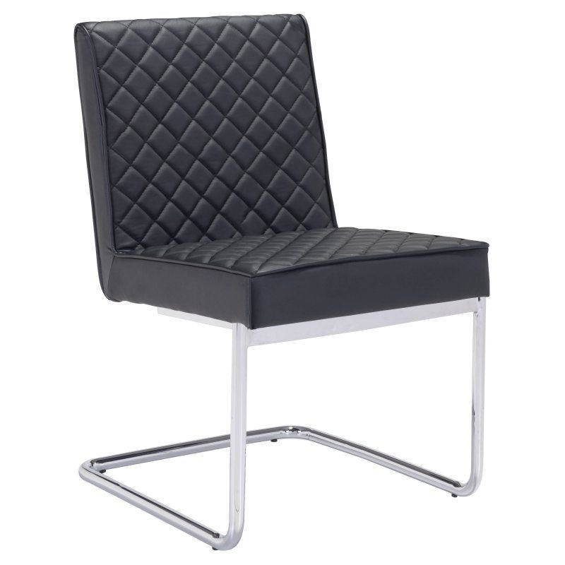 Zuo Modern Quilt Armless Dining Chair White - 100188