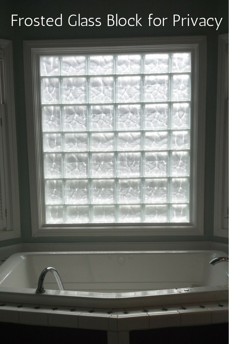 This First Floor Master Bathroom Window Used A Glass Block Window Which Was Frosted On The Outside For An Glass Block Windows Window In Shower Bathroom Windows