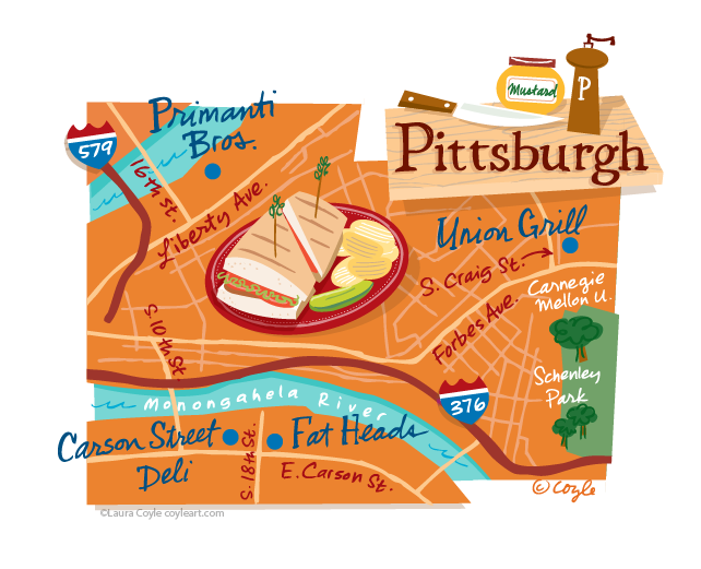 Illustrated Pittsburgh Map | Maps | Pittsburgh map, Mental ... on pittsburgh art map, pittsburgh black map, pittsburgh simple map, pittsburgh interactive map, pittsburgh aviation map, pittsburgh illustration, pittsburgh history, pittsburgh photography,