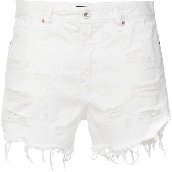denim cutoff shorts - White Diesel