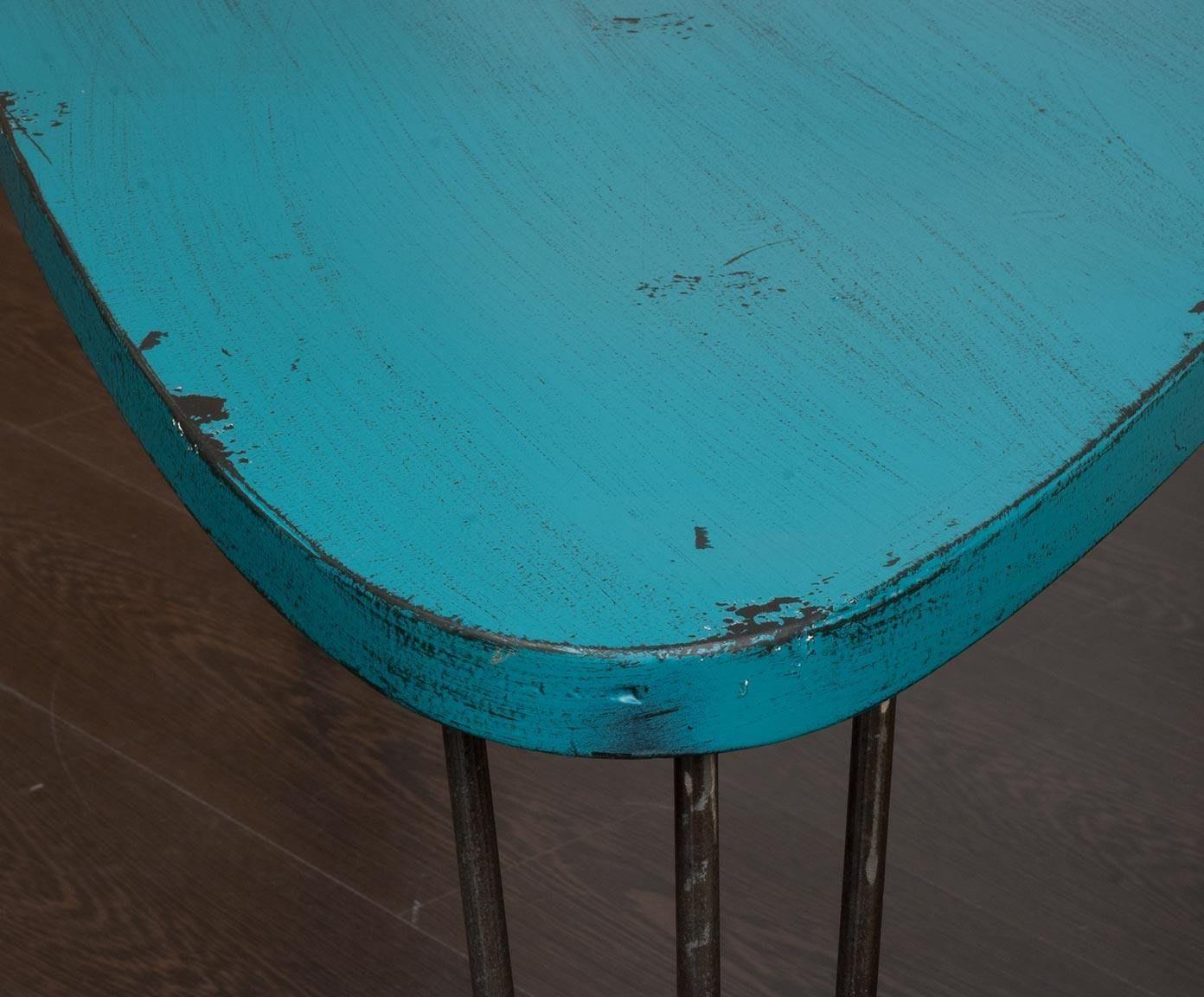Mesa de centro en metal - azul | Westwing Home & Living